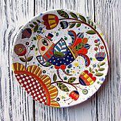 """Посуда ручной работы. Ярмарка Мастеров - ручная работа Декоративная тарелка """"Птица весенняя"""". Handmade."""