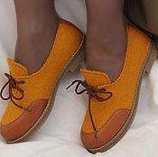 """Обувь ручной работы. Ярмарка Мастеров - ручная работа Туфли валяные женские """"Лондон"""". Handmade."""
