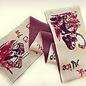 """Аксессуары ручной работы. Ярмарка Мастеров - ручная работа Вязаный кашемировый шарф """"Алиса"""". Handmade."""