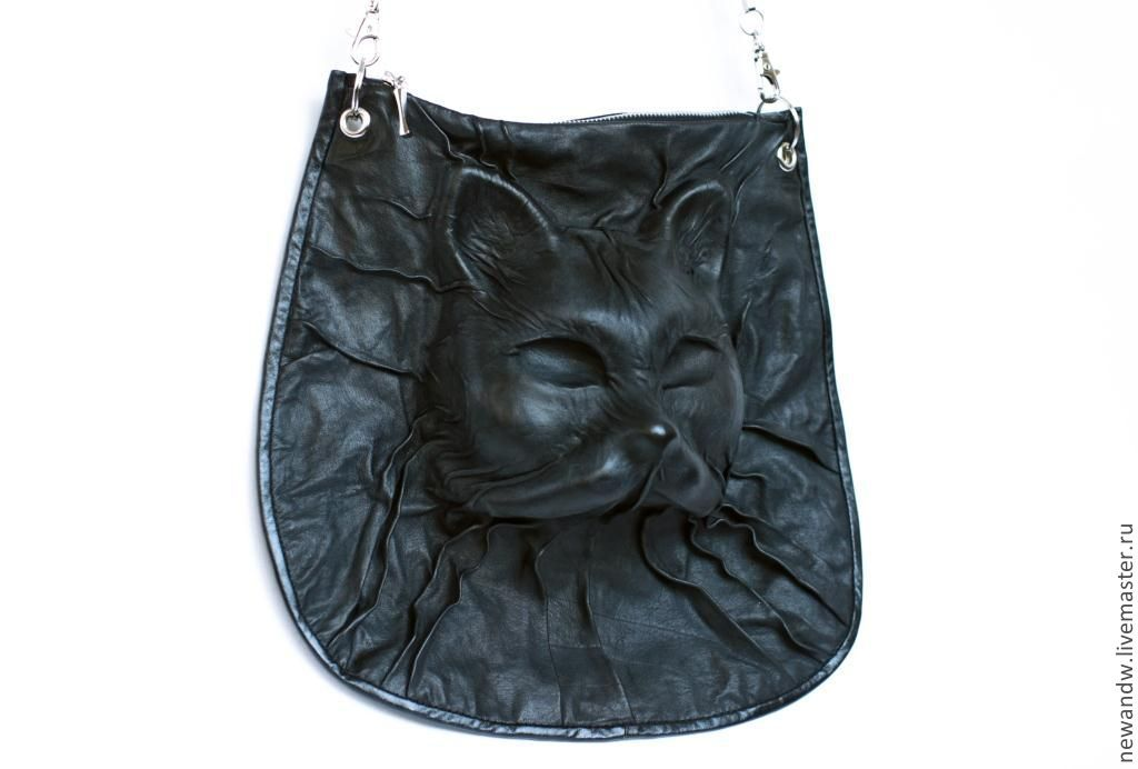 3D Bag genuine leather 'Black cat', Classic Bag, Moscow,  Фото №1