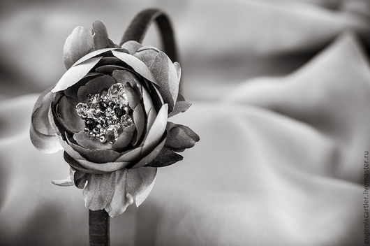 """Диадемы, обручи ручной работы. Ярмарка Мастеров - ручная работа. Купить Шелковый ободок для волос """"Английская роза"""". Handmade."""