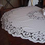 Для дома и интерьера handmade. Livemaster - original item White round tablecloth