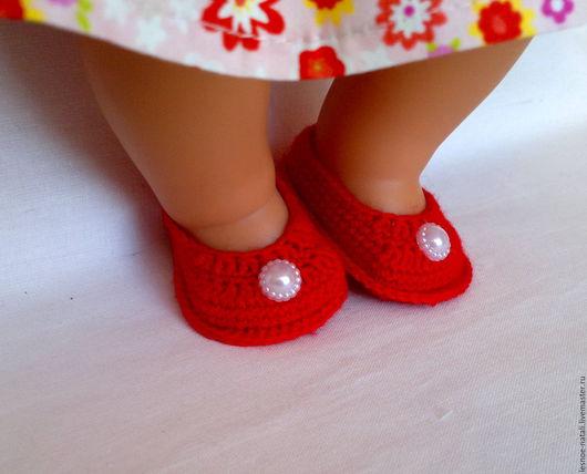 Куклы и игрушки ручной работы. Ярмарка Мастеров - ручная работа. Купить Обувь для кукол. Handmade. Разноцветный, вязаная обувь для куклы