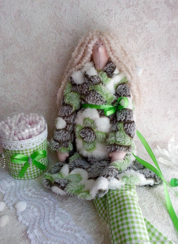 Кукла Тильда банный ангел в зеленом, банная фея, Куклы Тильда, Москва,  Фото №1