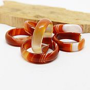 Украшения handmade. Livemaster - original item Ring orange-white agate 16.75-17 R-R. Handmade.