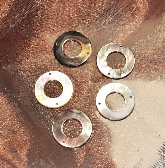 Для украшений ручной работы. Ярмарка Мастеров - ручная работа. Купить Перламутр диск, серый 25. Handmade. Комбинированный, перламутр