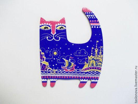 """Магниты ручной работы. Ярмарка Мастеров - ручная работа. Купить Магнит """"Кот учёный"""". Handmade. Комбинированный, подарок на любой случай"""
