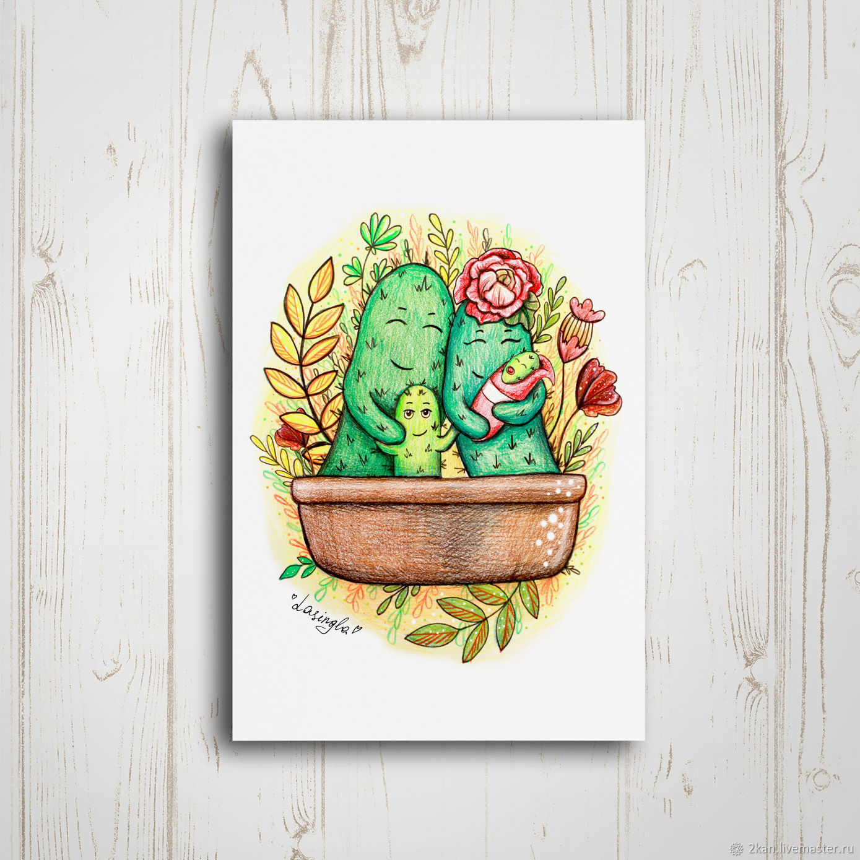 томатным почтовая открытка кактус шагом выборе правильного