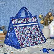 """Для дома и интерьера ручной работы. Ярмарка Мастеров - ручная работа """"Силви"""" сумка  для рукоделия. Handmade."""