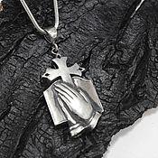 handmade. Livemaster - original item Men`s cross made of 925 sterling silver HH0064. Handmade.