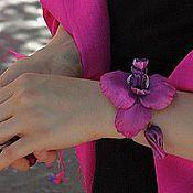 """Украшения ручной работы. Ярмарка Мастеров - ручная работа Браслет """"Орхидея с бутоном"""". Handmade."""