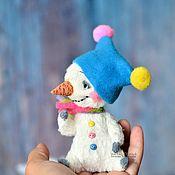 """Куклы и игрушки ручной работы. Ярмарка Мастеров - ручная работа Снеговик. Серия """"Веселые или сумасшедшие снеговики"""".. Handmade."""