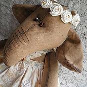 Куклы и игрушки ручной работы. Ярмарка Мастеров - ручная работа интерьерная игрушка слониха Флора. Handmade.
