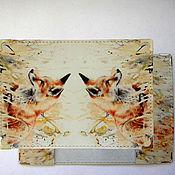 """Подарки к праздникам ручной работы. Ярмарка Мастеров - ручная работа обложка для паспорта """"Лисичка"""". Handmade."""
