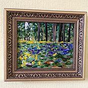 """Картины и панно ручной работы. Ярмарка Мастеров - ручная работа Картина """"Весна в Сосновом бору"""" , фьюзинг. Handmade."""