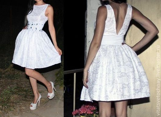 """Платья ручной работы. Ярмарка Мастеров - ручная работа. Купить Платье """"Аруз"""". Handmade. Белый, платье с пышной юбкой"""