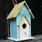 """Для дома и интерьера ручной работы. Ярмарка Мастеров - ручная работа Интерьерный скворечник """"HOME"""" для дома, для дачи. Handmade."""