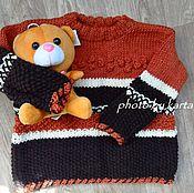 Работы для детей, ручной работы. Ярмарка Мастеров - ручная работа Детский свитер Медвежонок. Handmade.