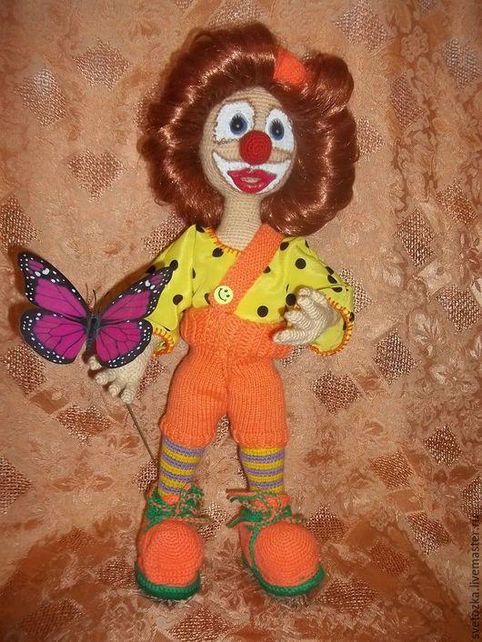 Игрушки животные, ручной работы. Ярмарка Мастеров - ручная работа. Купить Клоунесса ВАНЕССА. Handmade. Интерьерная кукла, клоунесса, подарок