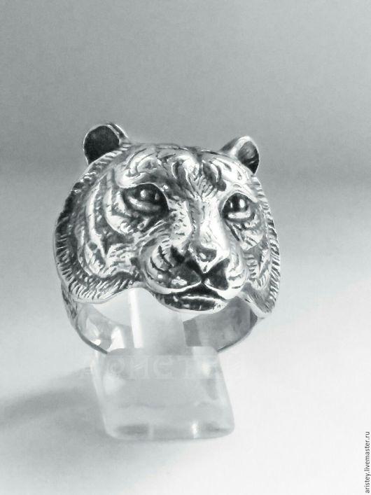 """Кольца ручной работы. Ярмарка Мастеров - ручная работа. Купить Перстень """"Тигр"""". Handmade. Серебряный, дикая кошка"""