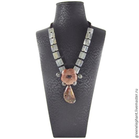 """Для украшений ручной работы. Ярмарка Мастеров - ручная работа. Купить Ожерелье """"Цветок любви"""". Handmade. Разноцветный, ожерелье, подарок"""