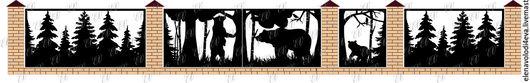 """Экстерьер и дача ручной работы. Ярмарка Мастеров - ручная работа. Купить Забор """"Мишки в лесу"""" лазерная резка. Handmade."""