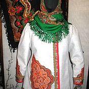 Народные костюмы ручной работы. Ярмарка Мастеров - ручная работа Душегрея зимняя. Handmade.