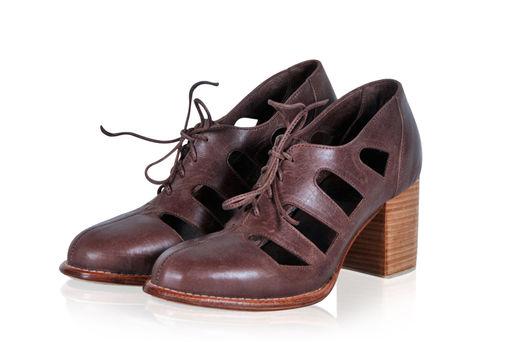 Обувь ручной работы. Ярмарка Мастеров - ручная работа. Купить Moonlight. Необыкновенные кожаные ботильоны.. Handmade. Коричневый, туфли из кожи