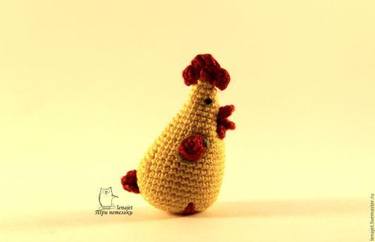 Игрушки животные, ручной работы. Ярмарка Мастеров - ручная работа. Купить Петухи миниатюрные брелки. Handmade. Петух, петух вязаный