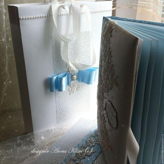 Свадебные фотоальбомы ручной работы. Ярмарка Мастеров - ручная работа. Купить Пакет подарочный разные размеры и декор. Handmade. Белый