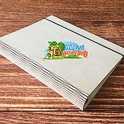 Материалы для творчества ручной работы. Ярмарка Мастеров - ручная работа Арт. 01 01 0055 Деревянная обложка для листов А5 на кольца d-30 мм. Handmade.