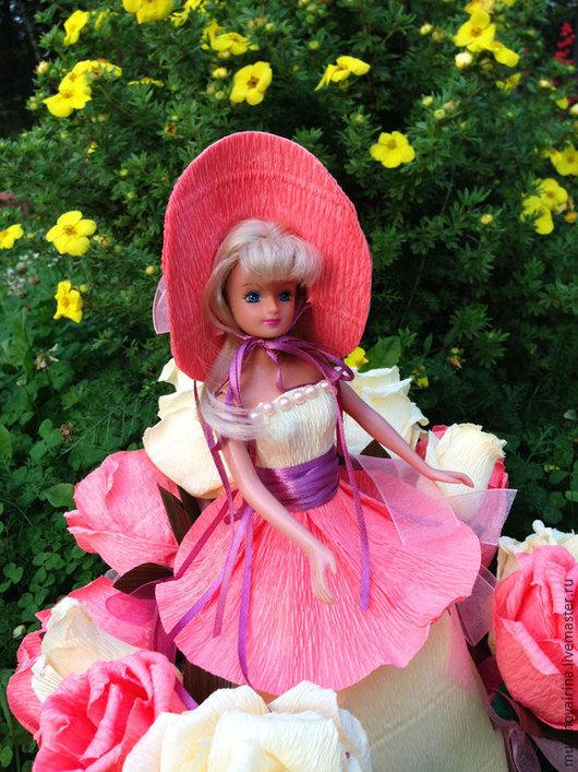 Букеты ручной работы. Ярмарка Мастеров - ручная работа. Купить Кукла из конфет. Handmade. Розовый, подарок девочке, кукла из конфет