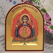 Картины и панно handmade. Livemaster - original item Icon Of The Virgin The Burning Bush. Handmade.