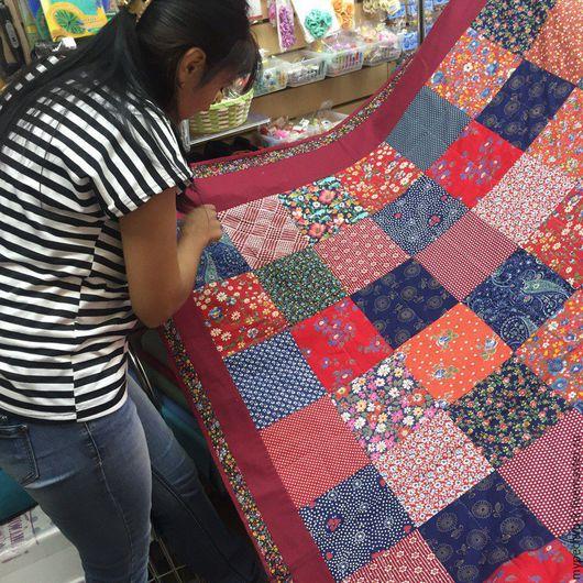 Текстиль, ковры ручной работы. Ярмарка Мастеров - ручная работа. Купить одеяло лоскутное  покрывало. Handmade. Одеяло пэчворк