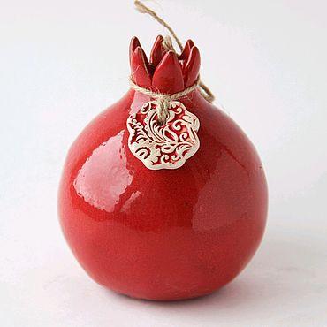 Посуда ручной работы. Ярмарка Мастеров - ручная работа Гранат декоративный керамический. Handmade.