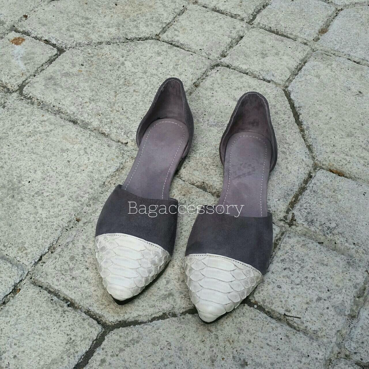 Handmade Shoes handmade. Livemaster - handmade. Buy Ballet shoes made of genuine leather Python skin.Ballet flats