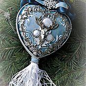 Подарки к праздникам ручной работы. Ярмарка Мастеров - ручная работа «Северное сияние» интерьерный медальон из керамики. Handmade.