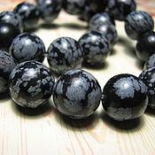 Материалы для творчества handmade. Livemaster - original item Obsidian snow 12 mm. Handmade.