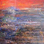 Картины и панно handmade. Livemaster - original item The end of dusk on the Dawn Shore - Beginning of Sunset. Handmade.