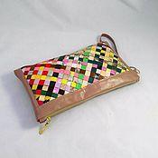 Сумки и аксессуары handmade. Livemaster - original item Leather bright clutch bag womens