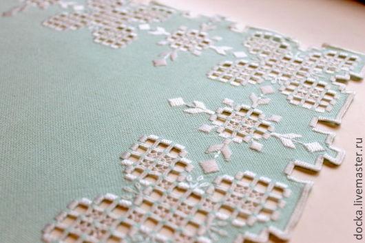 Текстиль, ковры ручной работы. Ярмарка Мастеров - ручная работа. Купить Салфетка Хрустальная Мята. Handmade. Мятный, декоративная салфетка