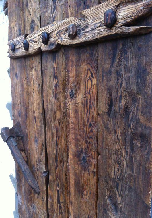 Экстерьер и дача ручной работы. Ярмарка Мастеров - ручная работа. Купить Накладка на дверь. Handmade. Старое дерево, дачный декор