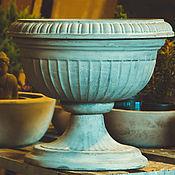 Для дома и интерьера handmade. Livemaster - original item Vase of garden flowers from the concrete, brown, grey. Handmade.