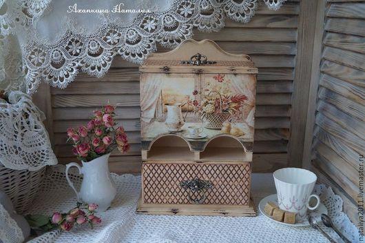 """Кухня ручной работы. Ярмарка Мастеров - ручная работа. Купить """"Утро в Провансе""""-Чайный буфет. Handmade. Бежевый, прованс, дерево"""