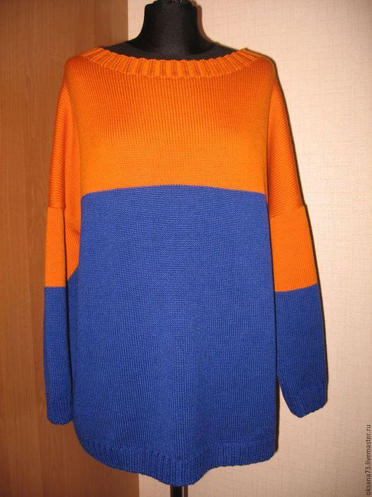 """Кофты и свитера ручной работы. Ярмарка Мастеров - ручная работа. Купить Джемпер """"Магия цвета"""". Handmade. Тёмно-синий, свитер"""