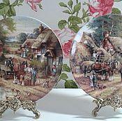 Винтаж handmade. Livemaster - original item Porcelain plates