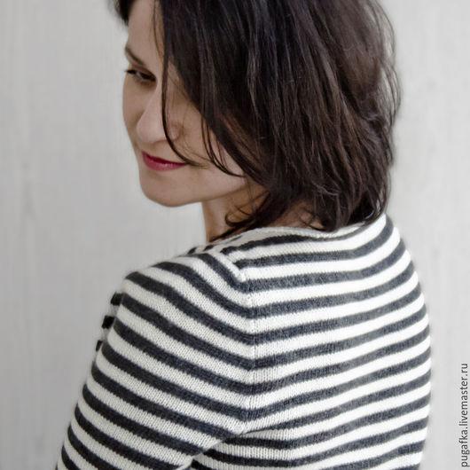 Кофты и свитера ручной работы. Ярмарка Мастеров - ручная работа. Купить Тельняшка женская (Go-Go Stripe). Handmade.
