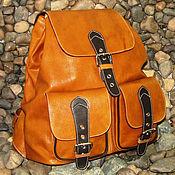 Backpacks handmade. Livemaster - original item Women`s leather backpack GLORIA red. Handmade.