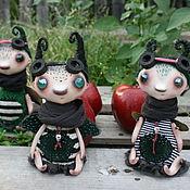 Куклы и игрушки ручной работы. Ярмарка Мастеров - ручная работа Козявочки букашечки Зуз, Жуж и Зин. Handmade.