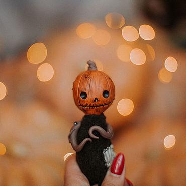 """Куклы и игрушки ручной работы. Ярмарка Мастеров - ручная работа Игрушка в смешанной технике """"Страшнотыкв"""". Handmade."""